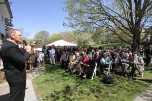 David Donovan at Mollie Donovan's memorial service