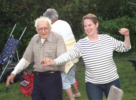 Jim Powers of Hamden dances at Westport's Levitt Pavilion