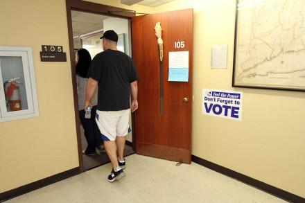 Picking up absentee ballots