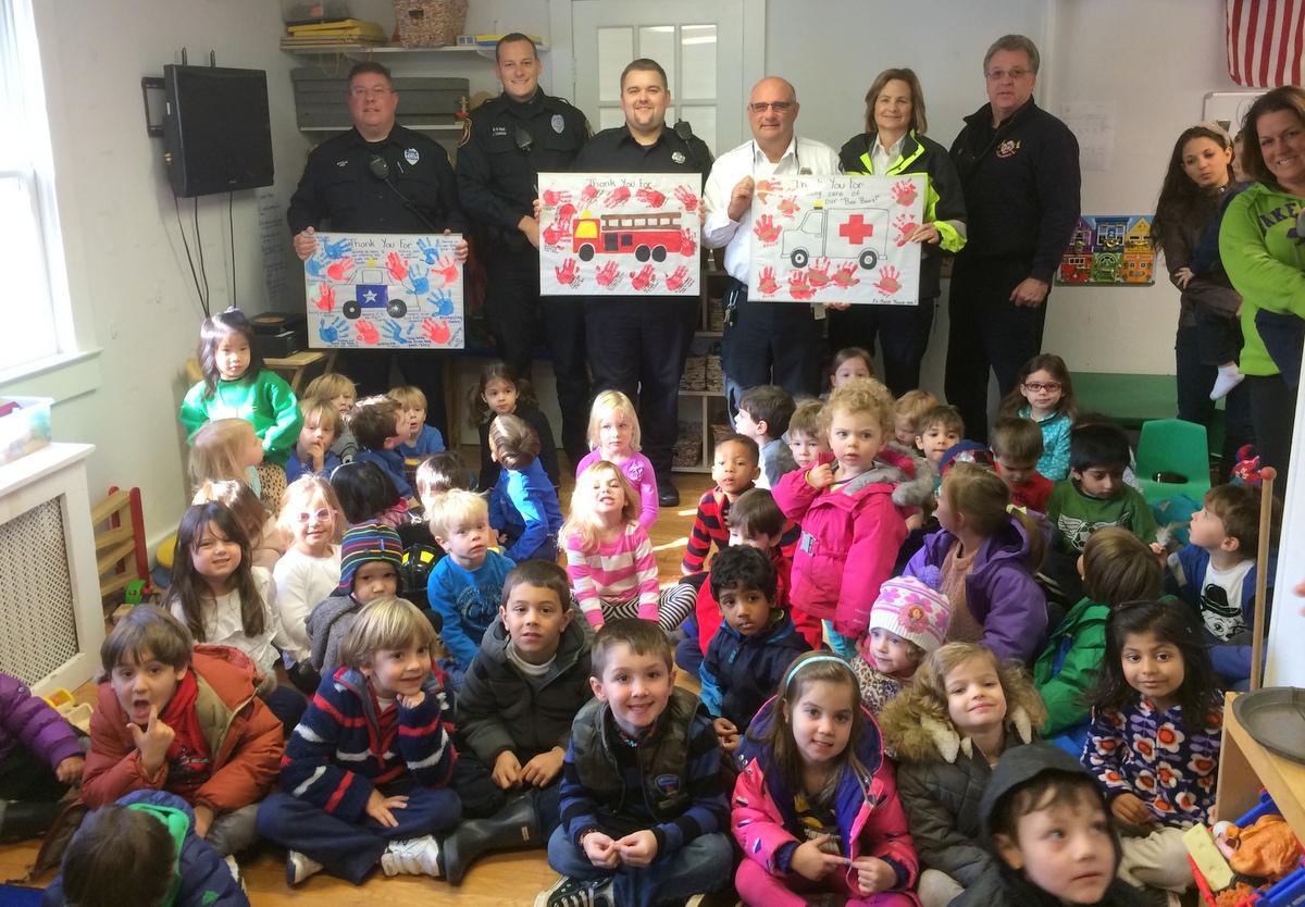 Preschoolers Honor Emergency Responders