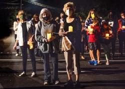 Vigil for Ruth Bader Ginsberg at Unitarian Church, Westport CT
