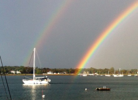 Double Rainbow over Longshore by Caroline Kavetas