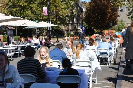 Church Street outdoor dining scene in Westport CT