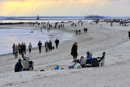 Compo Beach, the day after Thanksgiving, Westport, CT. Nov. 27, 2020, by Dave Matlow