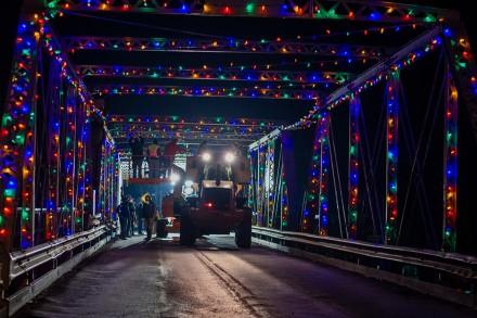 Westport, CT Cribari Memorial Bridge Christmas Lights Makeover, Nov. 21, 2020, by Jaime Bairaktaris