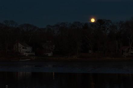 Full moon over the Saugatuck River, Westport, CT, Nov. 29, 2020, by Jaime Bairaktaris