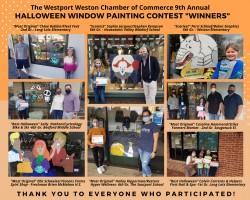 Westport CT Halloween Window Painting Winners 2020