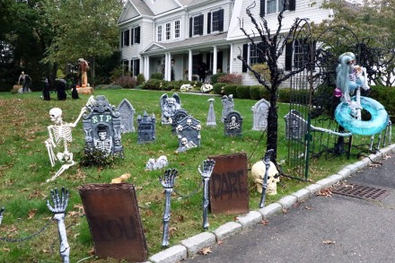 Entry into the Westport Halloween House Decorating Contest at 16 Rockyfield Road