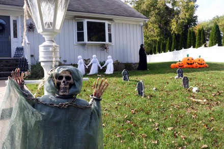 Entry into Halloween Decorating Contest 2020, 18 Bulkley Ave. South, Westport, CT, by Dave Matlow