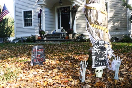 Entry into Halloween Decorating Contest 2020, 20 Westfair Drive, Westport, CT, by Dave Matlow