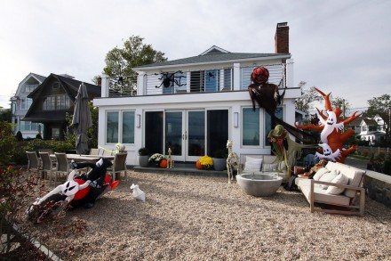 Entry into Halloween Decorating Contest 2020, 31 Soundview Drive, Westport, CT, by Dave Matlow