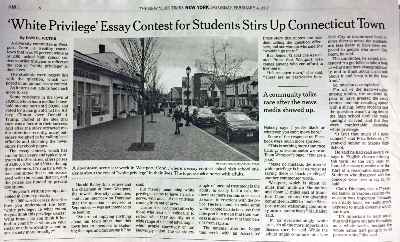 ny times takes second look at white privilege story  com image