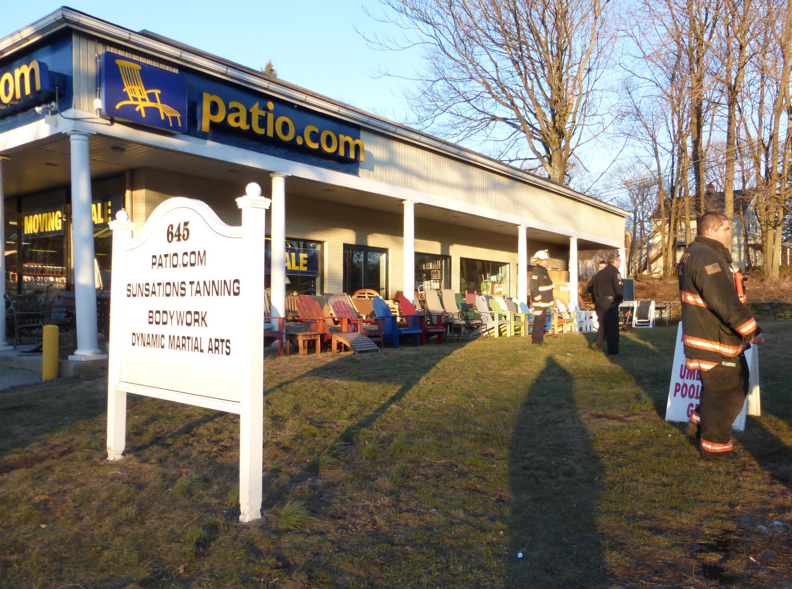 Cause Sought In Fire At Patio.Com