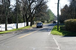 Maple Ave. South in Westport, CT is getting new sidewalk, by Dave Matlow, Nov. 20, 2020