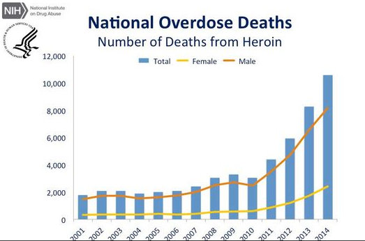 Increases in Drug and Opioid Overdose Deaths — United States, 2000 ...