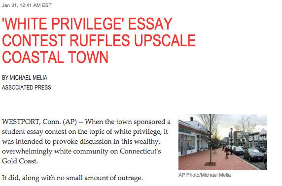 AP Spotlights Town's White Privilege Essay | WestportNow.com ...