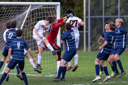Staples Boys Soccer beats Ridgefield Oct. 19, 2020