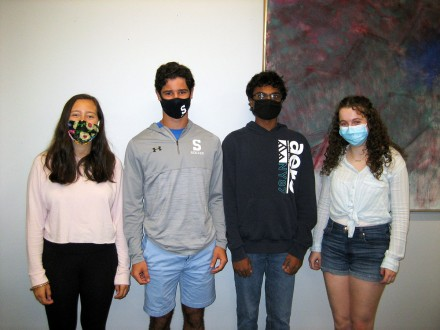 Elana Atlas, Reed Caney, Mohit Gupta & Hannah Even, Staples Class of 2021 National Merit Scholarship finalists