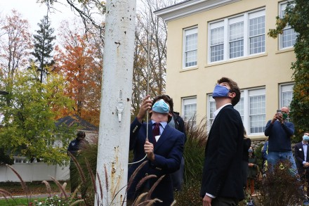 Lucas Slater, Aidan Rogers. Staples Model United Nations Members, Westport CT, UN Anniversary celebration, Oct. 24, 2020, by Dave Matlow