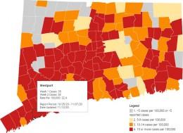 Westport COVID Red as of Nov. 13, 2020